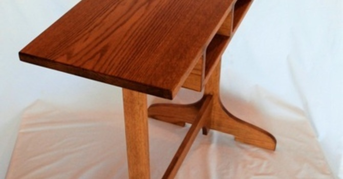 Solid Oak Chair side Table