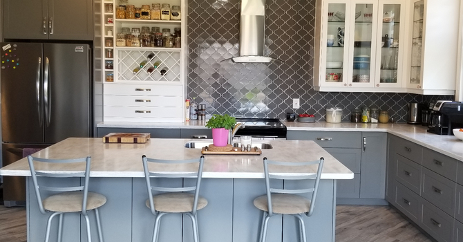 Open Concept Kitchen in Grey